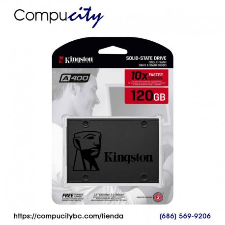 SSD Unidad Estado Solido Kingston SA400S37/120G, 120 GB, SATA III