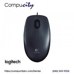 Mouse LOGITECH M100, USB, Optico, 3 Botones, Negro
