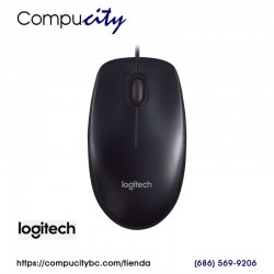 Mouse Logitech M90, USB, Optico, 3 Botones, Negro