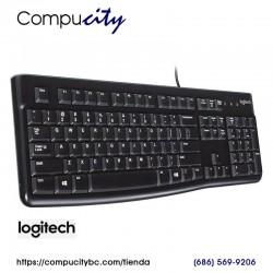Teclado Logitech K120, USB, Negro, Español